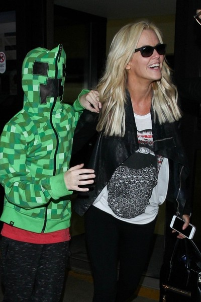 Jenny McCarthy and Family Seen at LAX