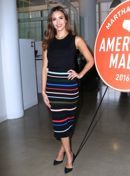 Jessica Alba Pencil Skirt