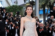 Jessica Biel Strapless Dress