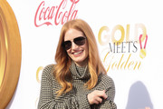 Jessica Chastain Aviator Sunglasses