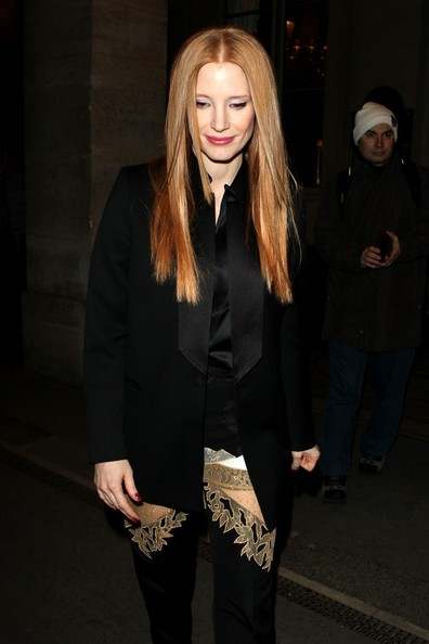 More Pics of Jessica Chastain Skinny Pants (1 of 8) - Skinny Pants Lookbook - StyleBistro
