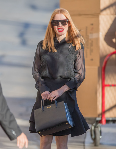 Jessica Chastain Leather Tote