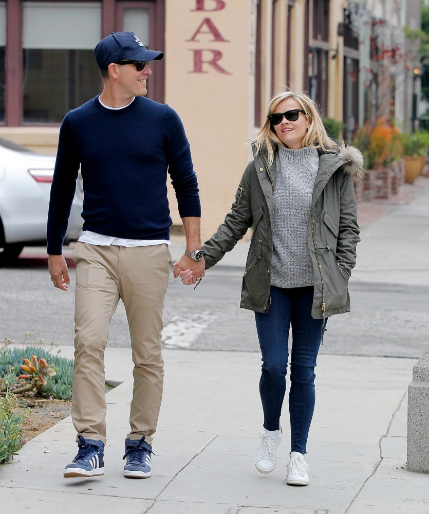 Jim Toth and Reese Witherspoon Hold Hands