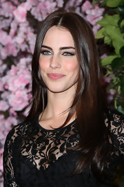 Jessica Lowndes wore her hair sleek and straight at the John Lewis Beauty Hall launch party.