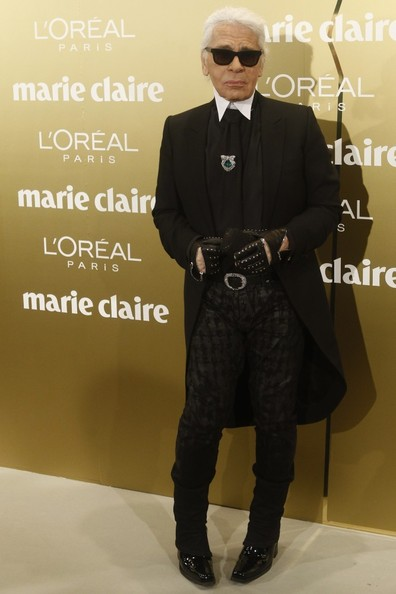 Polermo and Lagerfeld at Marie Claire