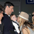 Karolina Kurkova at the Airport with her Family