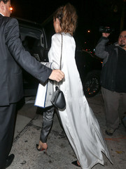 Kate Beckinsale left Catch carrying the on-trend Givenchy Pandora box bag.