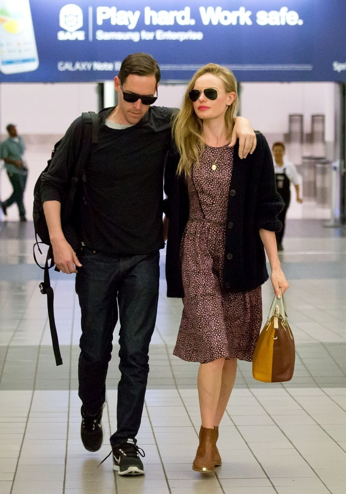 Kate Bosworth and Michael Polish Arrive in LA