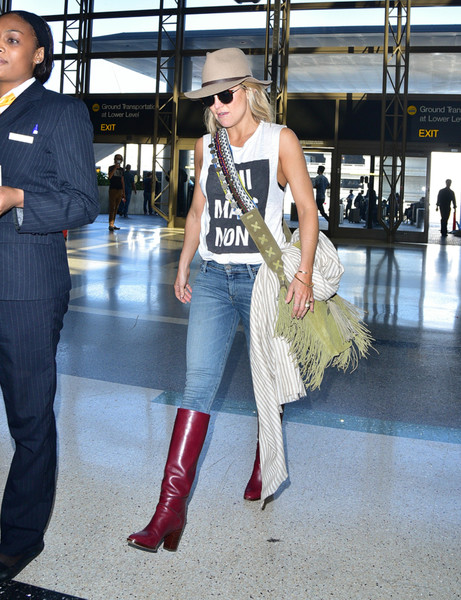 Kate Hudson Knee High Boots
