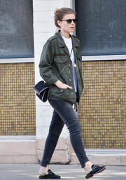 Kate Mara was seen out in LA looking tough in an army jacket.