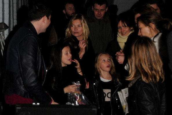 Kate Moss at the Primrose Hill Christmas Fair