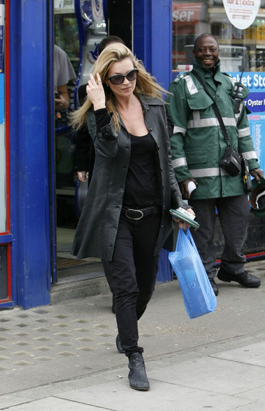 Kate Moss Leather Coat
