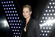 Kate Moss Toughens up Her Blazer with Leather Lapels