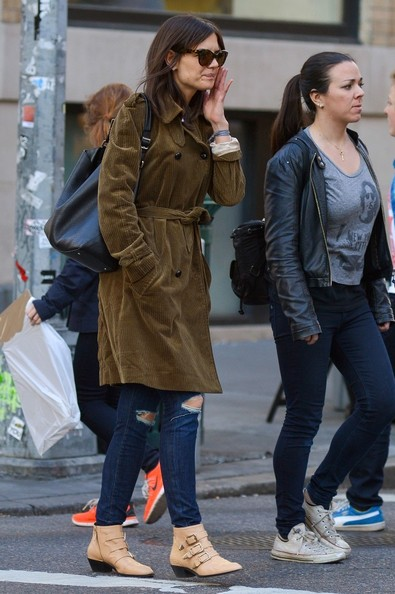 Katie Holmes Studded Boots []