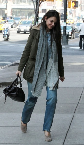 More Pics of Katie Holmes Military Jacket (4 of 7) - Katie Holmes Lookbook - StyleBistro