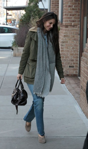 More Pics of Katie Holmes Military Jacket (1 of 7) - Military Jacket Lookbook - StyleBistro
