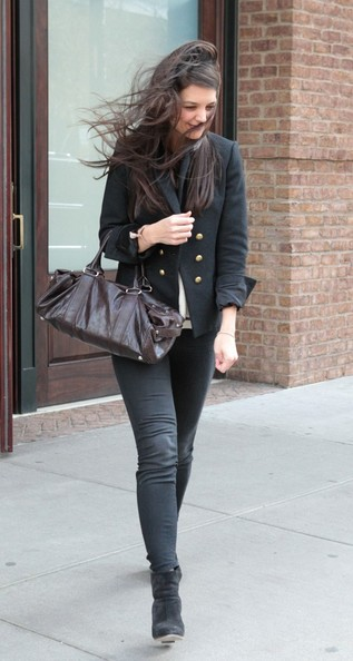 More Pics of Katie Holmes Skinny Pants (3 of 15) - Jeans Lookbook - StyleBistro