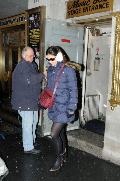 More Pics of Katie Holmes Ankle Boots (5 of 8) - Katie Holmes Lookbook - StyleBistro []