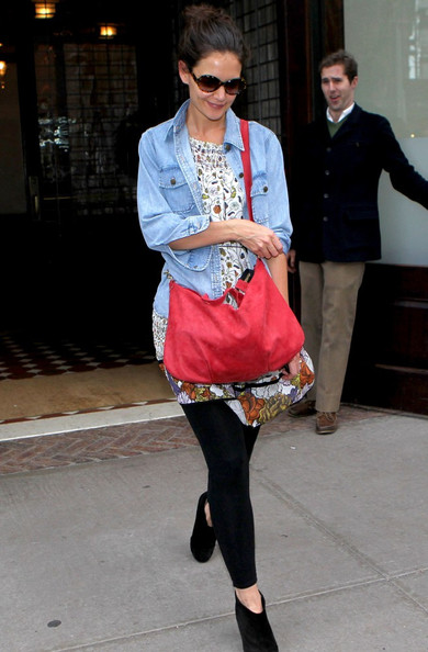 More Pics of Katie Holmes Denim Jacket (3 of 5) - Katie Holmes Lookbook - StyleBistro