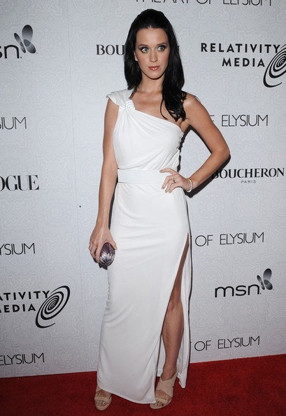 Katy Perry One Shoulder Dress []