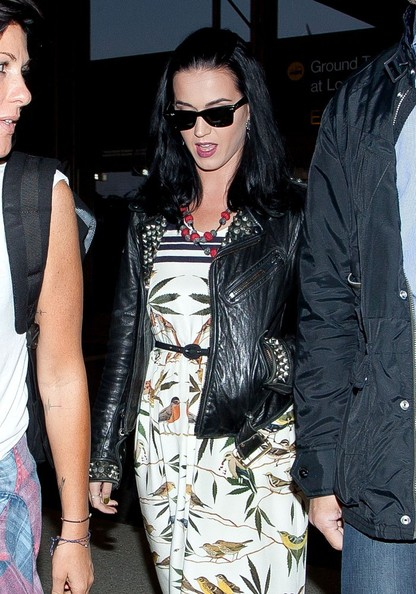 More Pics of Katy Perry Leather Jacket (4 of 18) - Katy Perry Lookbook - StyleBistro