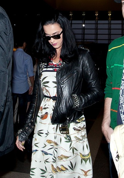More Pics of Katy Perry Leather Jacket (1 of 18) - Katy Perry Lookbook - StyleBistro