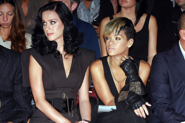 Rihanna in Katy Perry and Rihanna Attend Lagerfeld show