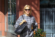 Kelly Rutherford Print Blouse