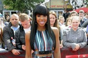 Kelly Rowland arrives at the 'X Factor' auditions.