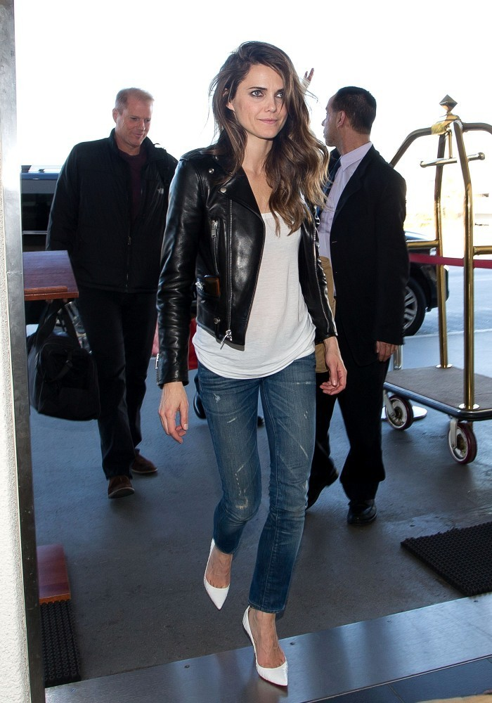 Keri Russell Arrives at LAX