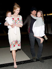 Nicole Kidman wore this summery embroidered day dress for her trip to the airport.