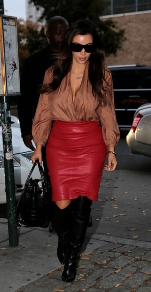 More Pics of Kim Kardashian Knee High Boots (1 of 19) - Knee High Boots Lookbook - StyleBistro