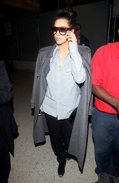 More Pics of Kim Kardashian Wool Coat (5 of 14) - Wool Coat Lookbook - StyleBistro