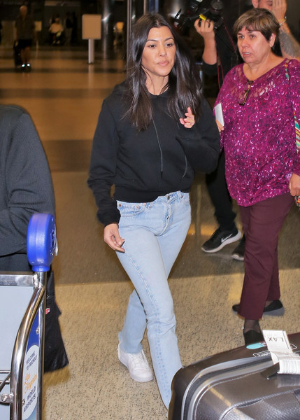 Kourtney Kardashian Leather Sneakers