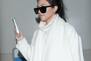 Kourtney Kardashian Rectangular Sunglasses