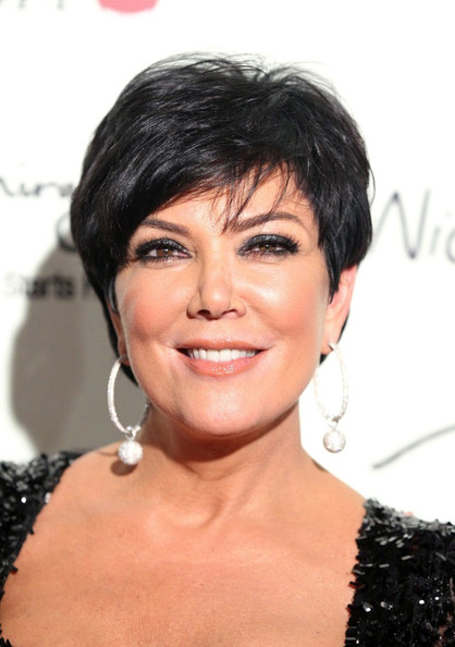 Kris Jenner Side Parted Straight Cut