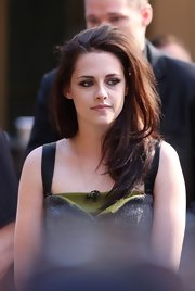 Kristen Stewart's tousled auburn locks match her effortlessly cool vibe.