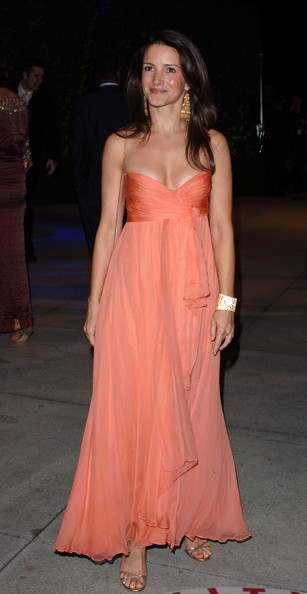 Kristin Davis Strapless Dress