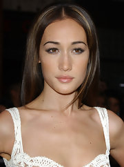 Maggie Q kept her lips looking natural with just a hint of gloss when she attended the 'Mission: Impossible III' premiere.