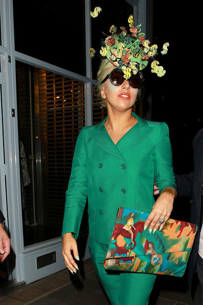 Lady Gaga Printed Clutch
