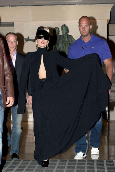 Lady Gaga Cutout Dress