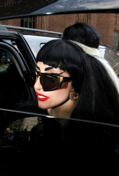 Lady Gaga Gold Studs