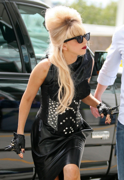 Lady Gaga Studded Gloves