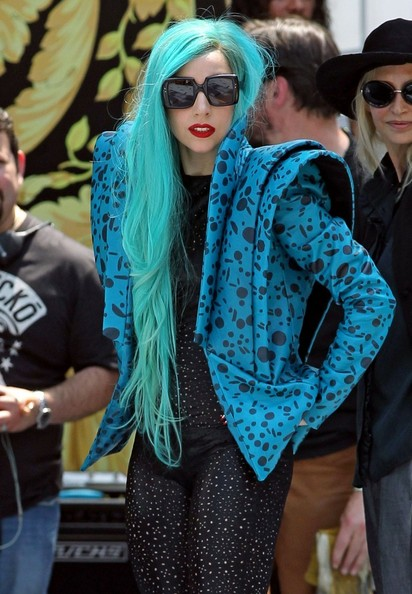 Lady Gaga Long Wavy Cut