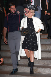 Lady Gaga attended the Marc Jacobs show wearing Lara Combat Boots that lace up the front.