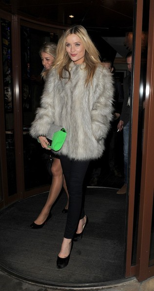 Laura Whitmore Fur Coat