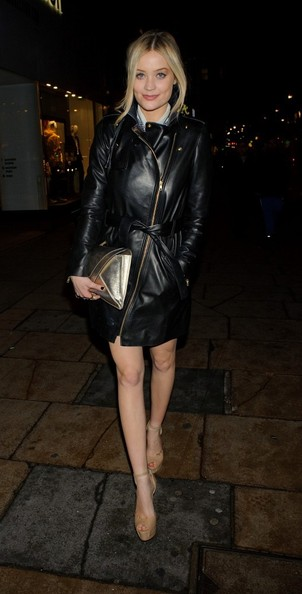 More Pics of Laura Whitmore Leather Coat (1 of 3) - Laura Whitmore Lookbook - StyleBistro