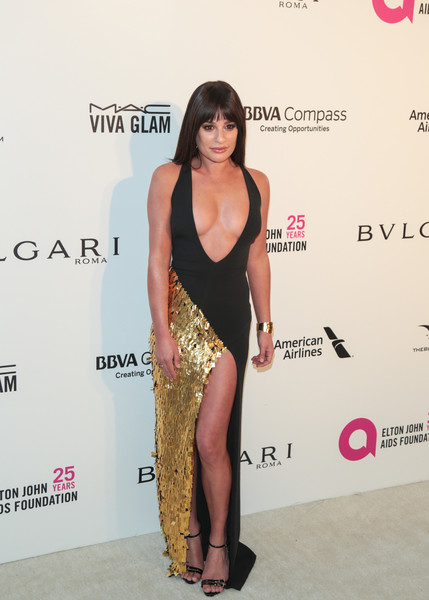 Lea Michele Form-Fitting Dress