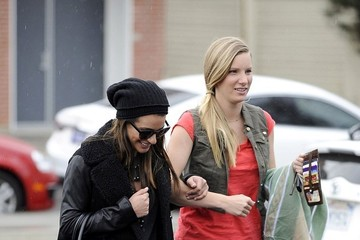 Lea Michele Heather Morris Lea Michele and Heather Morris Step Out in L.A.