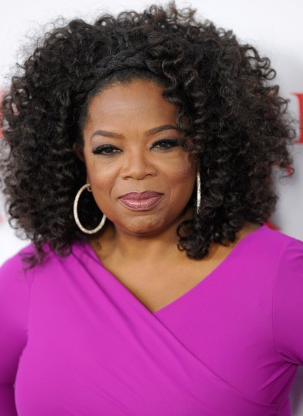 Oprah's bold curls looked super chic with a braided detail at the crown.